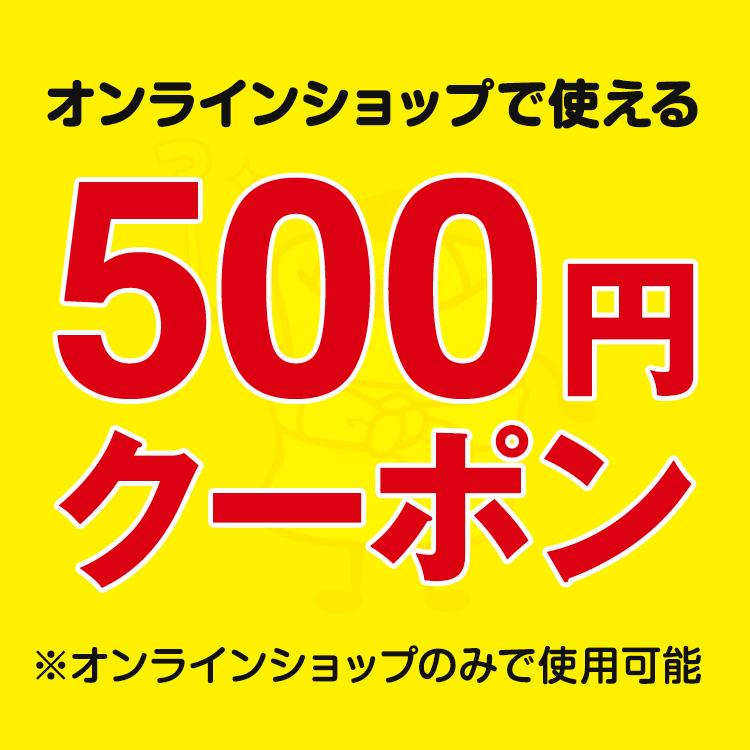 オンラインショップで使える500円クーポン