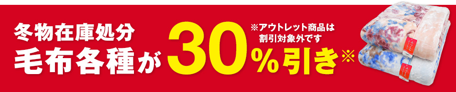 毛布 30%OFF