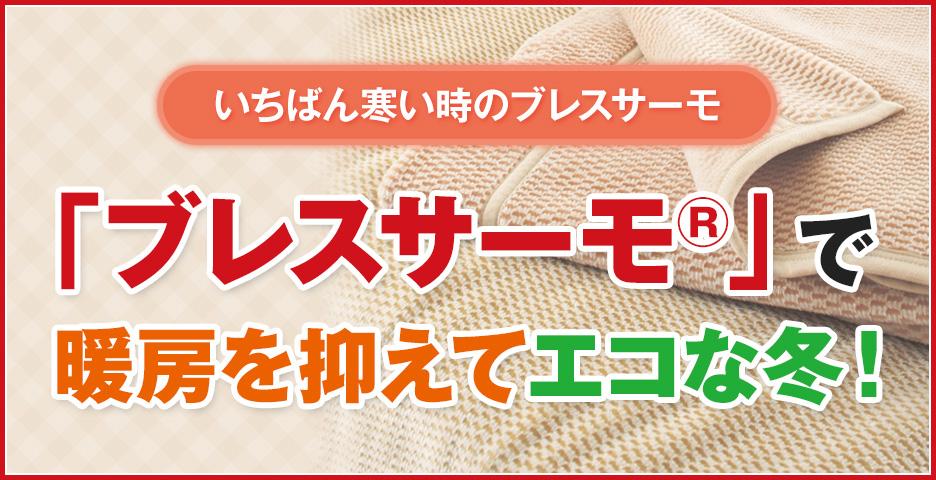 いちばん寒い時のブレスサーモ「ブレスサーモ®」で暖房を抑えてエコな冬!