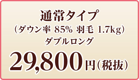 通常タイプ ダブルロング 29,800円