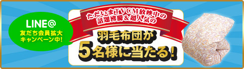 LINE友達拡大キャンペーン